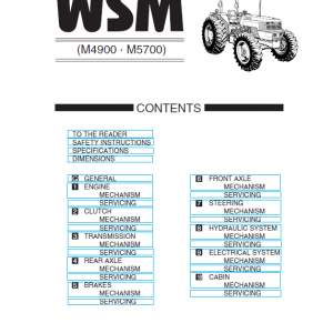 Kubota M4900, M5700 Tractor Workshop Service Manual