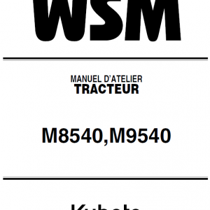 Kubota M8540, M9540 Tractor Workshop Service Manual