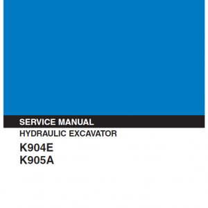 Kobelco K904e And K905a Excavator Service Manual