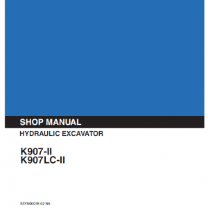 Kobelco K907-ii And K907lc-ii Excavator Service Manual
