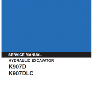 Kobelco K907d And K907dlc Excavator Service Manual