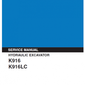 Kobelco K916 And K916lc Excavator Service Manual