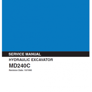 Kobelco Md240c Excavator Service Manual