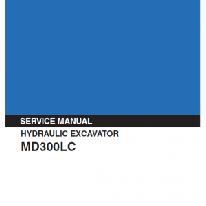 Kobelco Md300lc Excavator Service Manual