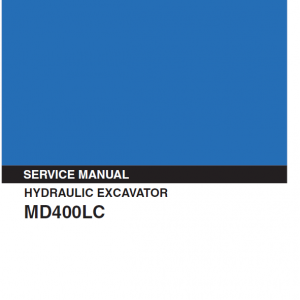 Kobelco Md400lc Excavator Service Manual