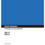 Kobelco Sk14 And K914 Excavator Service Manual