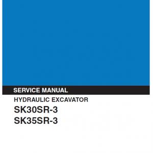 Kobelco Sk30sr-3 And Sk35sr-3 Excavator Service Manual