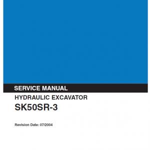 Kobelco Sk50sr-3 Excavator Service Manual