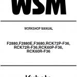 Kubota F2880, F2880e, F3680 Front Mower Workshop Manual