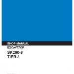 Kobelco SK260-8 Tier 3 Excavator Service Manual