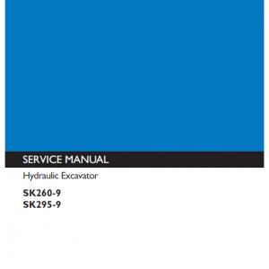 Kobelco Sk260-9, Sk295-9 Excavator Service Manual