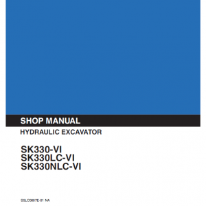 Kobelco Sk330-6, Sk330lc-6 And Sk330nlc-6 Excavator Service Manual
