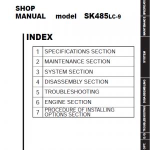 Kobelco Sk485lc-9 Excavator Service Manual