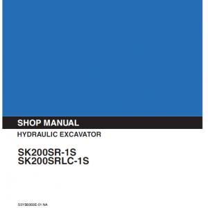 Kobelco Sk200sr-1s, Sk200srlc-1s Excavator Service Manual