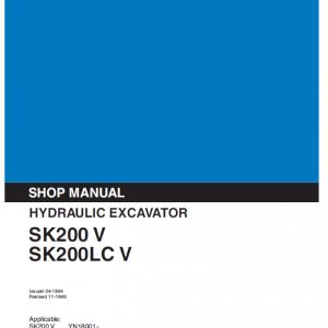 Kobelco Sk200-v, Sk200lc-v Excavator Service Manual