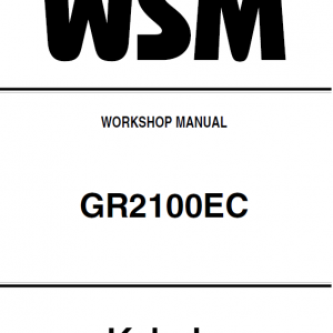 Kubota Gr2100ec Lawn Mower Workshop Manual