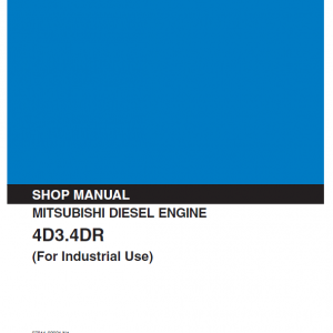 Mitsubishi 4d30, 4d31, 4d32, 4dr5, 6dr5 Engine Service Manual