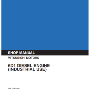 Mitsubishi 6d14, 6d15, 6d16 Engine Worskhop Service Manual