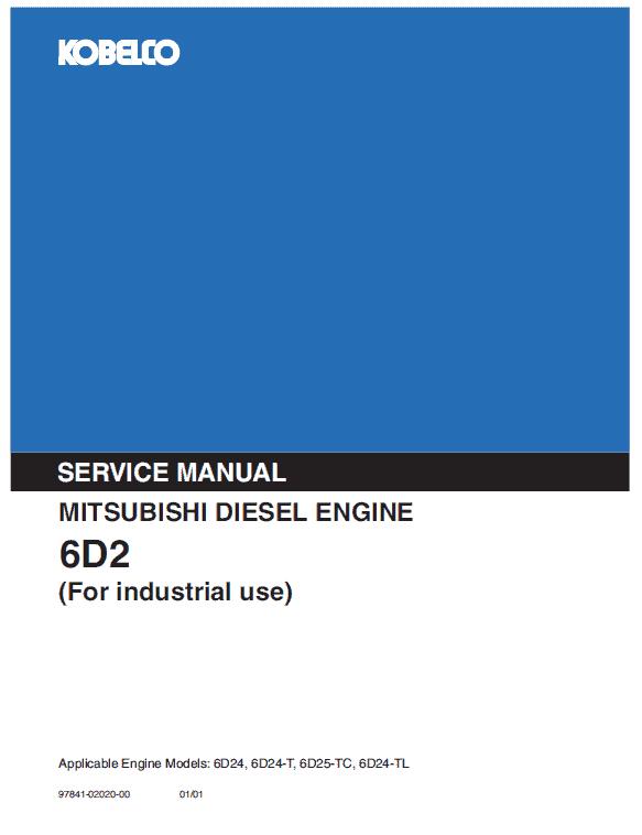Mitsubishi 6d24, 6d24-t, 6d25-tc Engine Workshop Service Manual