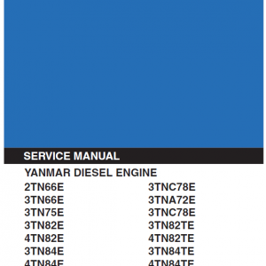 Yanmar 2tn 3tn 4tn Engine Workshop Service Manual