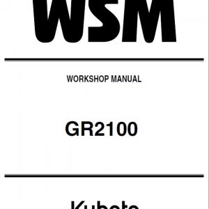 Kubota GR2100 Lawn Mower Workshop Manual