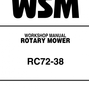 Kubota Rc72-38 Rotary Mower Workshop Manual