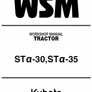 Kubota Sta-30, Sta-35 Tractor Workshop Service Manual