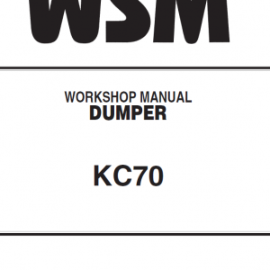 Kubota Kc70 Dumper Workshop Manual