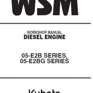 Kubota 05-e2b, 05-e2bg Engine Workshop Service Manual