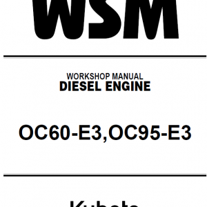 Kubota Oc60-e3, Oc98-e3 Engine Workshop Service Manual
