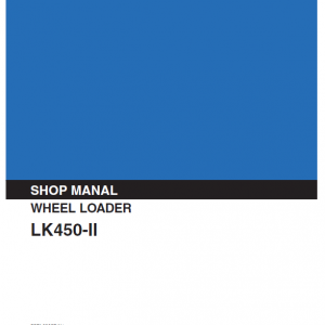 Kobelco Lk450 Ii Wheel Loader Service Manual