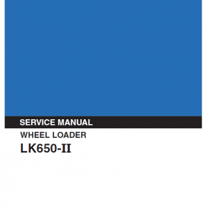 Kobelco Lk650 Ii Wheel Loader Service Manual