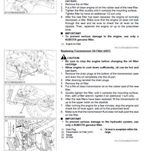 Kubota L3560, L4060, L4760, L5060, L5460, L6060 Tractor Manual