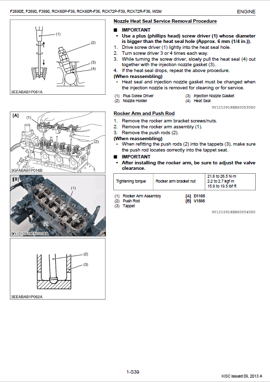 Kubota F2690, F2690e, F3990 Front Mower Workshop Manual