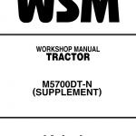 Kubota M4900, M5700 Tractor Workshop Service Manual