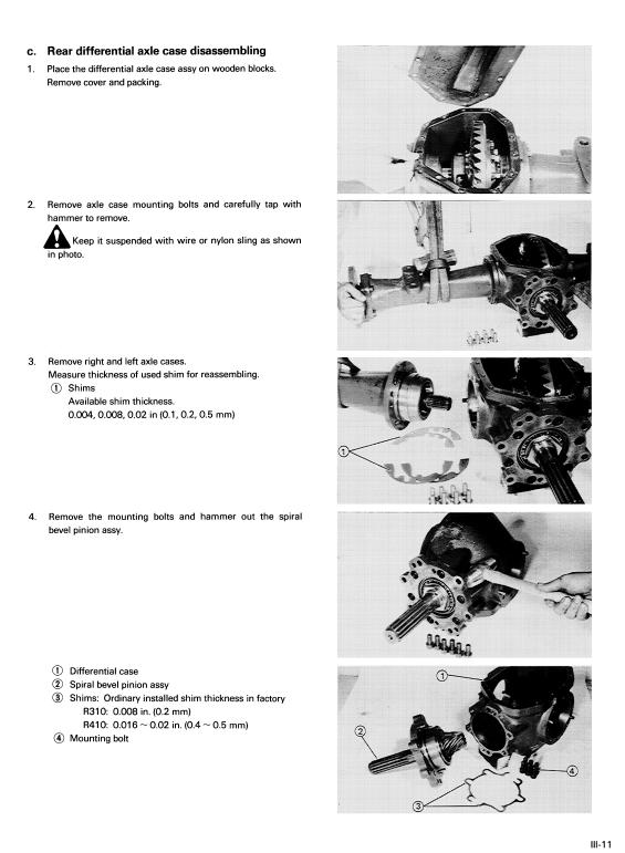 Kubota R310 /& R410 Radfahr LADER Workshop Manual