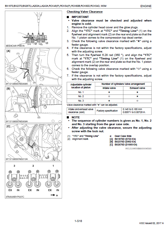 Kubota Bx1870, Bx2370, Bx2670 Tractor Loader Workshop Manual