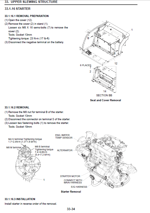 Kobelco Sk55srx-t4 Excavator Service Manual