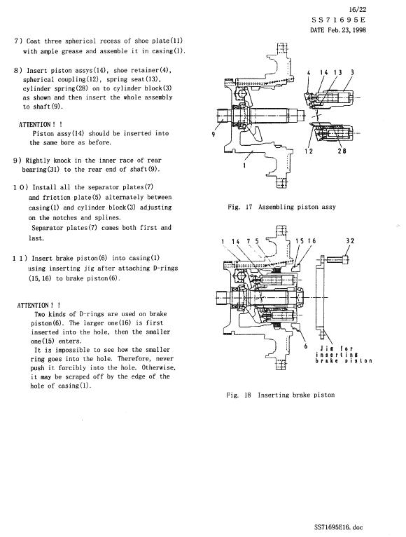 Kobelco Sk300, Sk300lc Excavator Service Manual