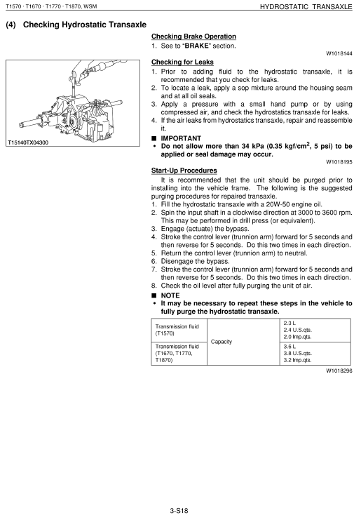 Kubota T1570 Tractor Mower Workshop Service Manual
