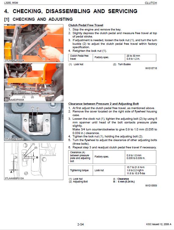Kubota L3200 Tractor Workshop Service Manual