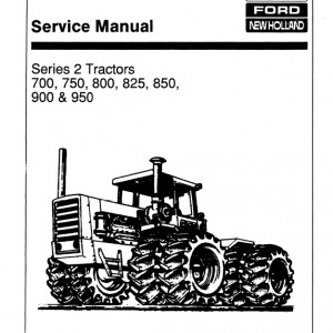 Ford Versatile 700, 750, 800, 825, 850, 900, 950 Tractor Service Manual