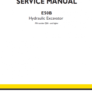 New Holland E50b Hydraulic Excavator Service Manual