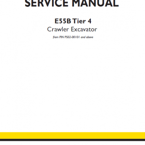 New Holland E55b Tier 4 Crawler Excavator Service Manual