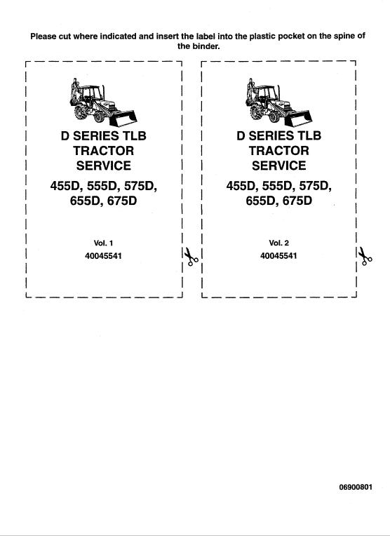 Ford 455d, 555d, 575d, 655d, 675d Backhoe Loader Service Manual