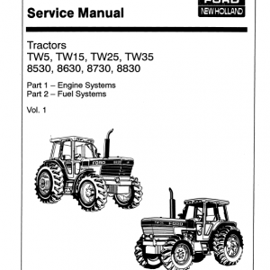 Ford 8530, 8630, 8730, 8830 Tractor Service Manual