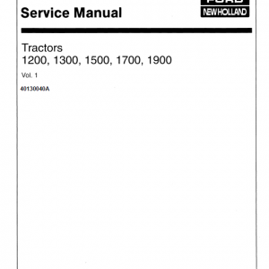 Ford 1200, 1300, 1500, 1700, 1900 Tractors Service Manual