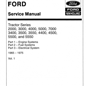 Ford Tractor Series 4000, 4400, 4500 Service Manual