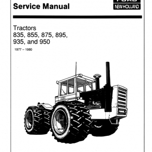Ford Versatile 835, 855, 875, 895, 935, 950 Tractor Service Manual