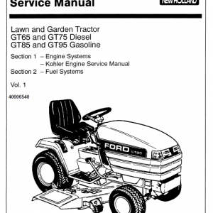 Ford Gt64, Gt75, Gt85, Gt95 Lawn Tractor Service Manual